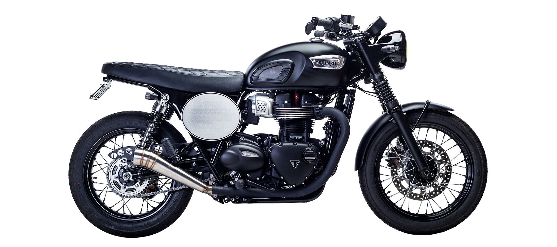 GP Slip On Exhaust for Bonneville T100 by British Customs