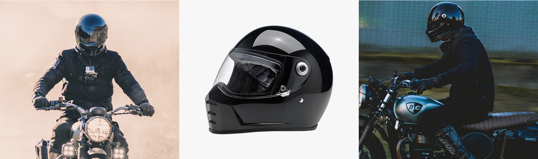 Biltwell Lane Splitter Helmet from British Customs