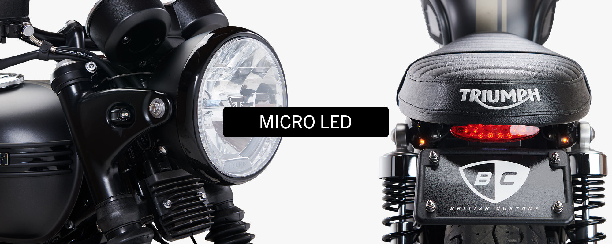 British Customs Micro LED Turn Signals Triumph Motorcycles