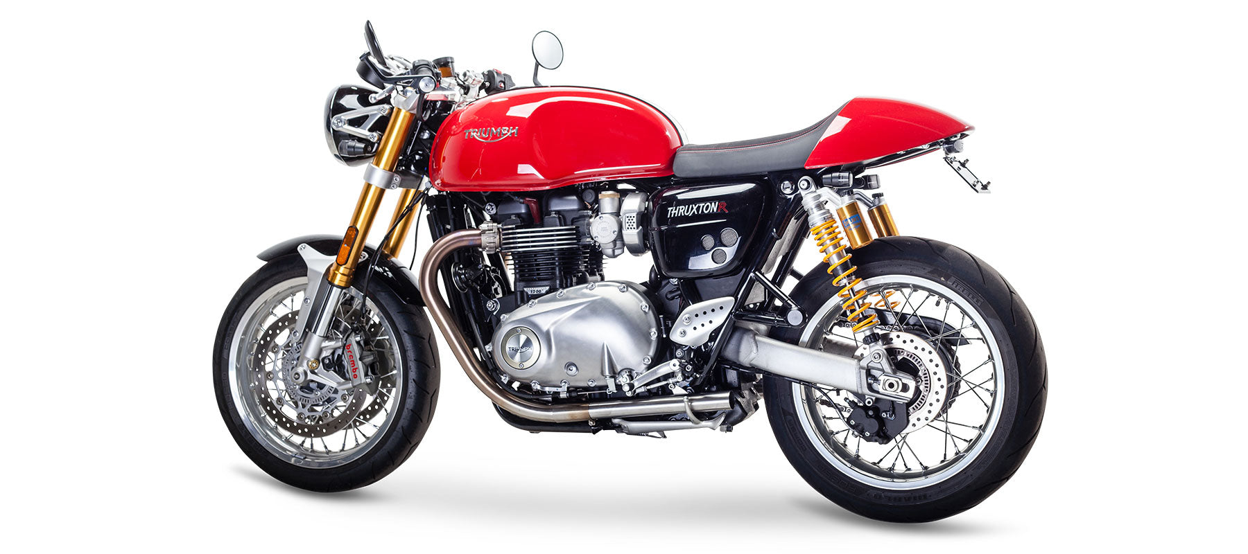 GP Sip On Exhaust for Triumph Thruxton R by British Customs