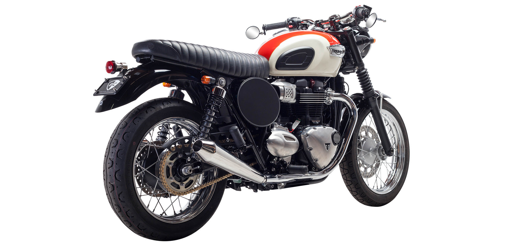 British Customs Predator Pro for Triumph Bonneville T100