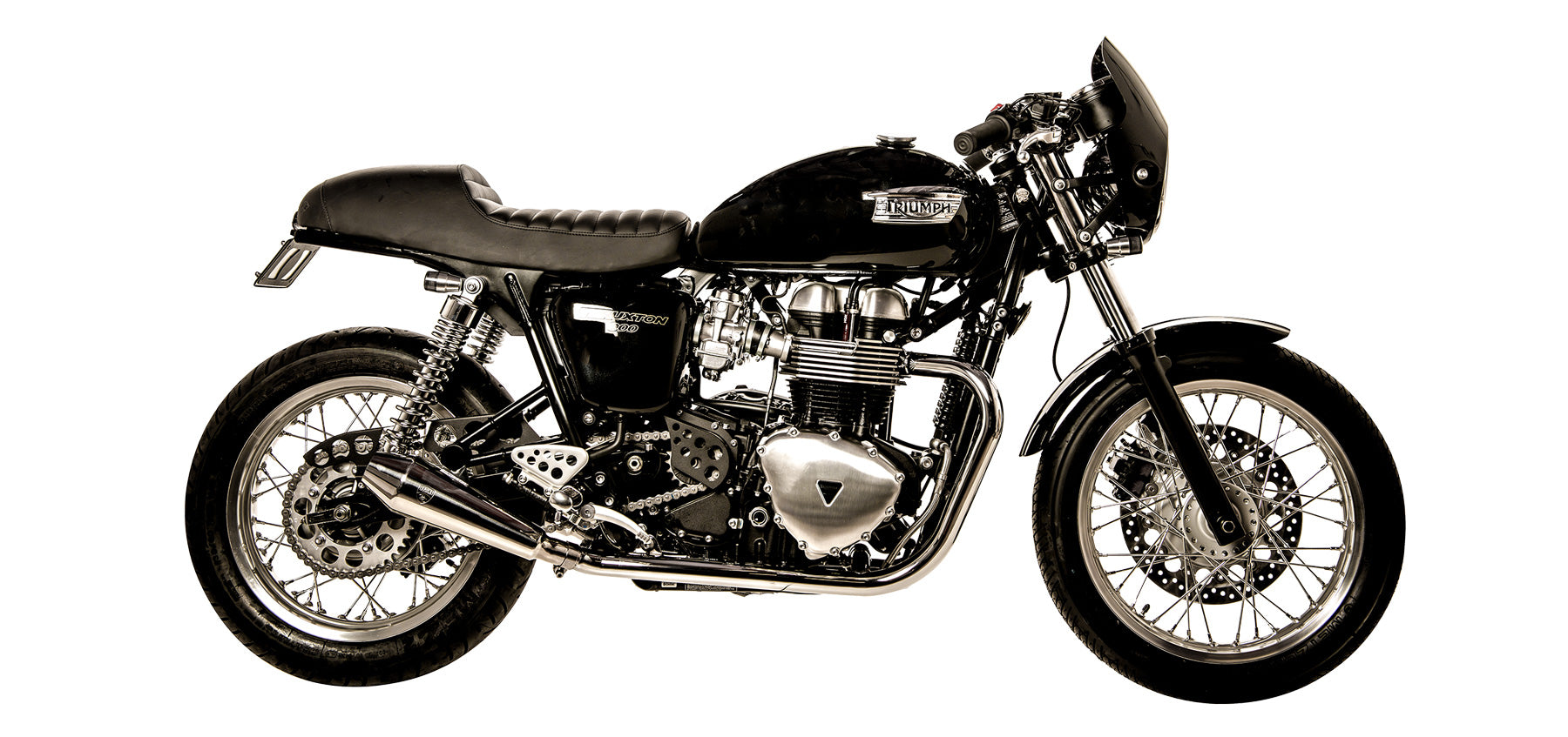 British Customs Shorty Predator Pro Exhaust for Thruxton 900