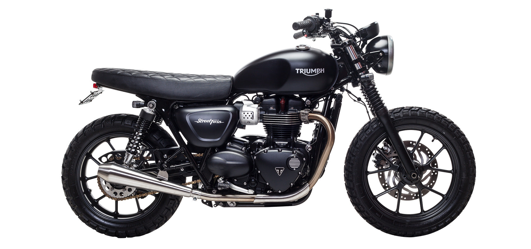 British Customs Predator Pro for Triumph Street Twin and Street Cup