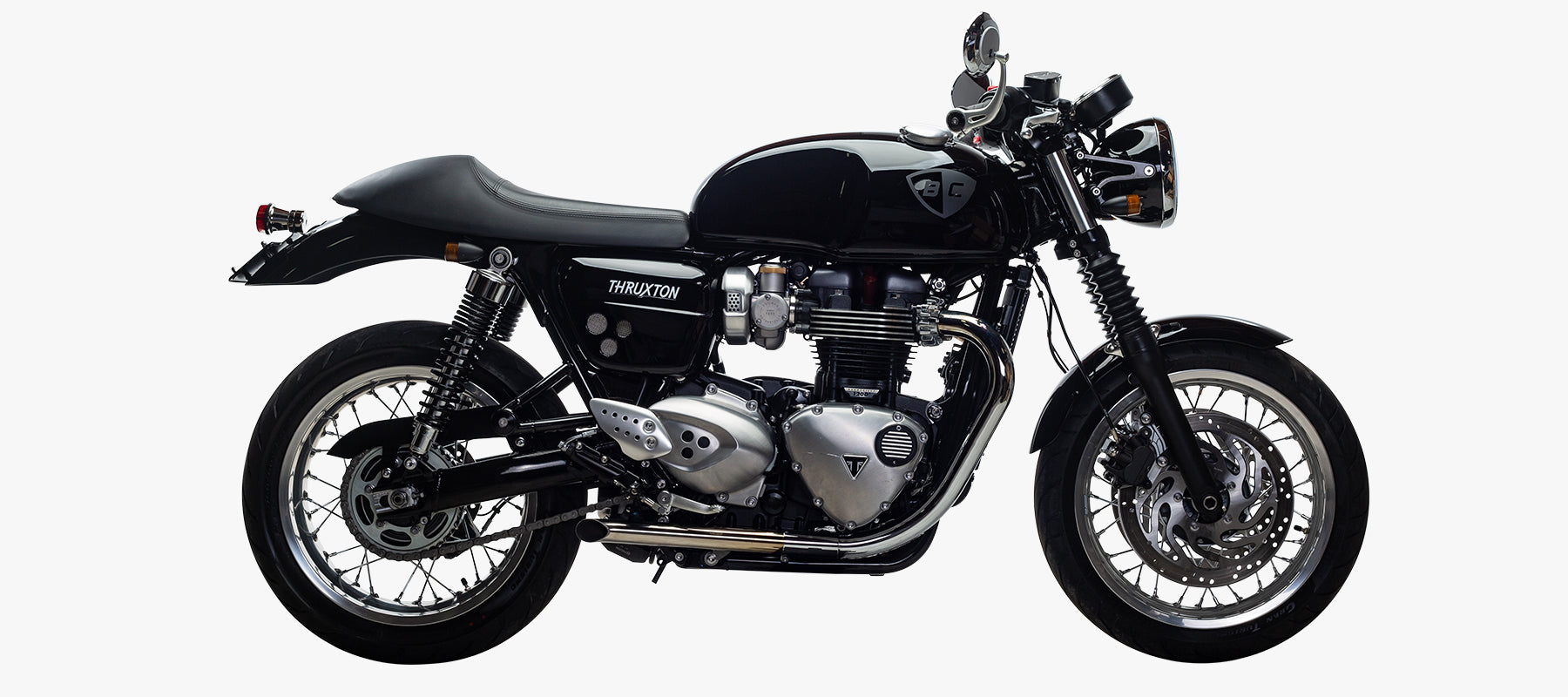British Customs Turn Out Performance Tips for Triumph Thruxton 1200
