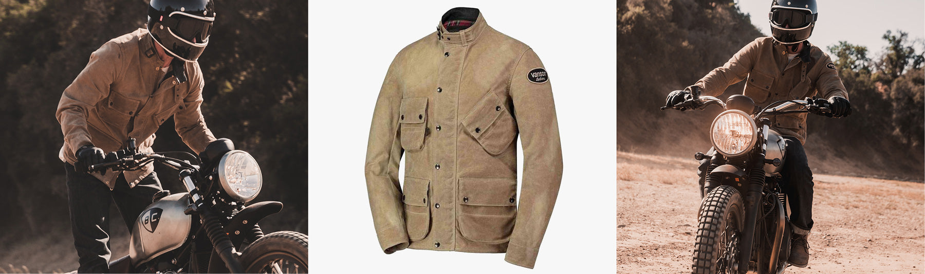 Vanson Stormer Waxed Cotton Jacket Available From British Customs