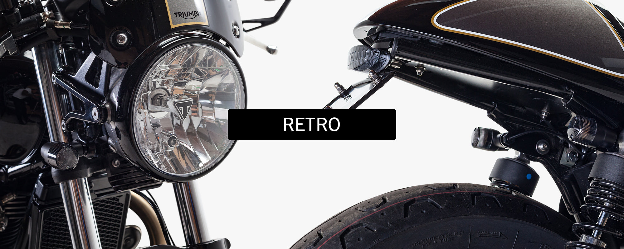 British Customs Retro Turn Signals Triumph Motorcycle