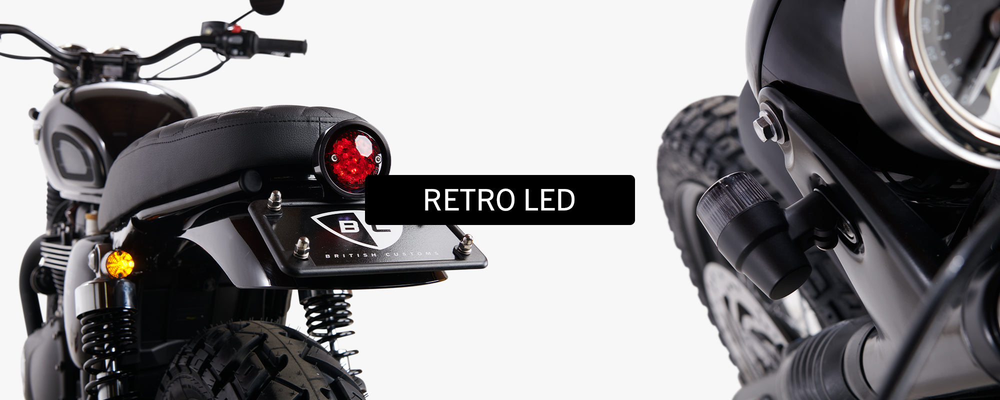 British Customs Retro LED Turn Signals Triumph Motorcycle