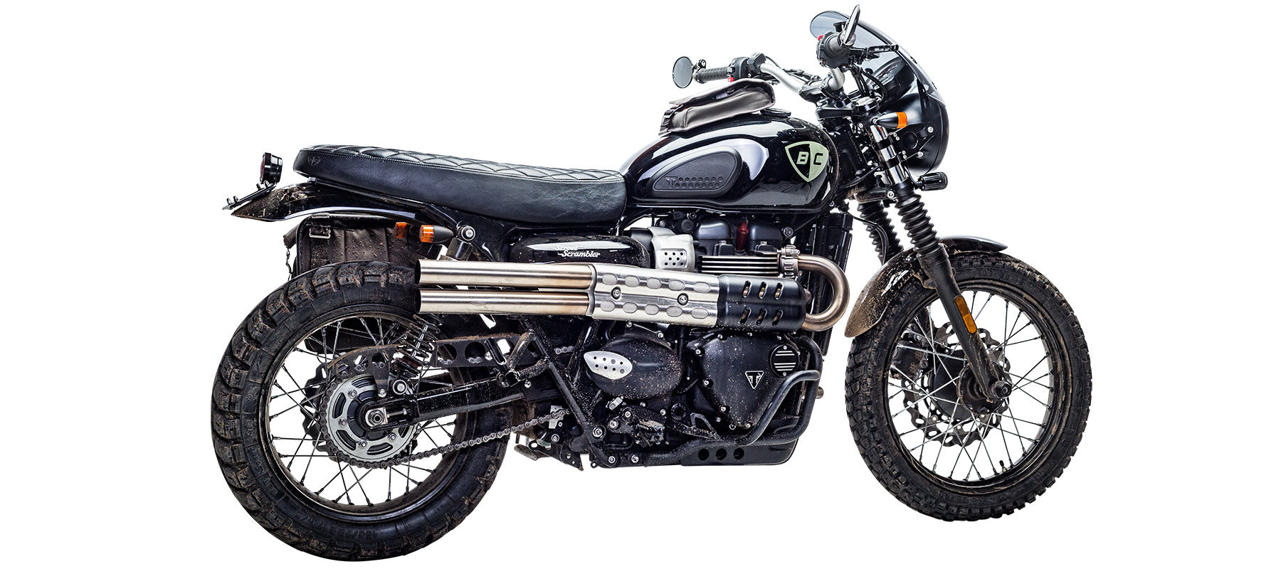 British Customs Shotgun Exhaust for Street Scrambler