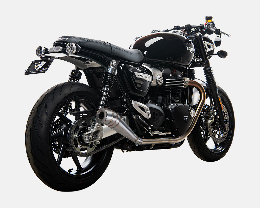 Triumph Bonneville Speed Twin GP Exhaust British Customs