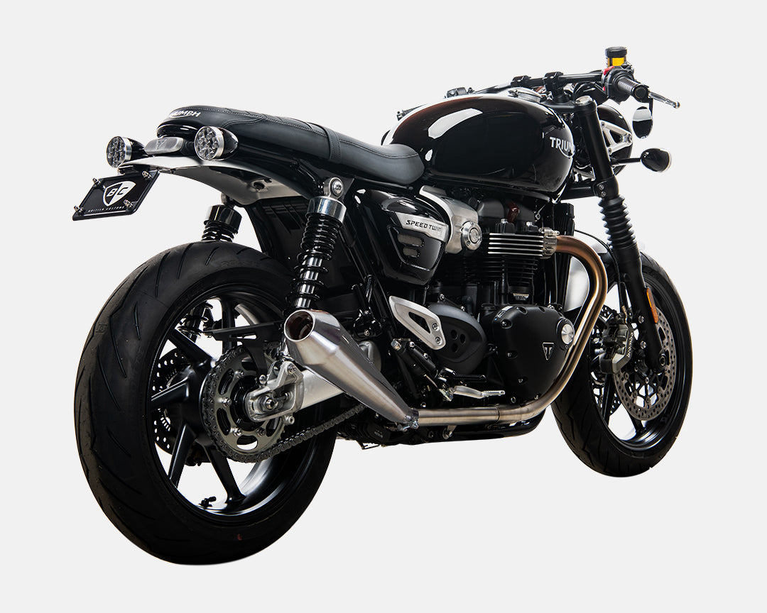 Triumph Bonneville Speed Twin Predator Exhaust British Customs