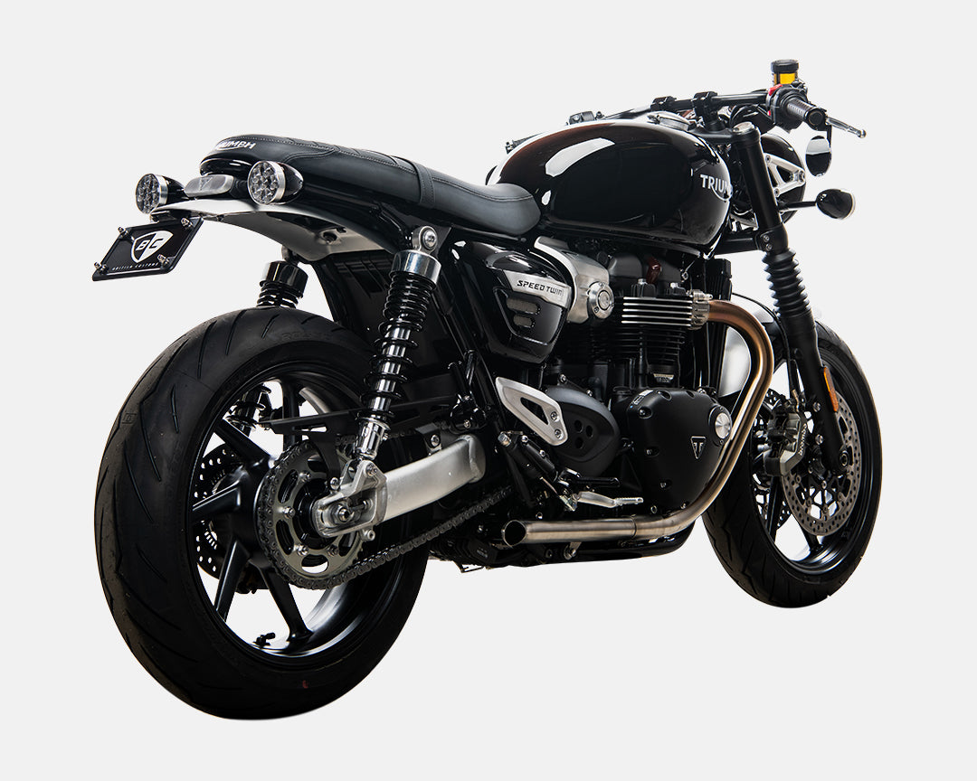 Triumph Bonneville Speed Twin Turn Out Exhaust British Customs