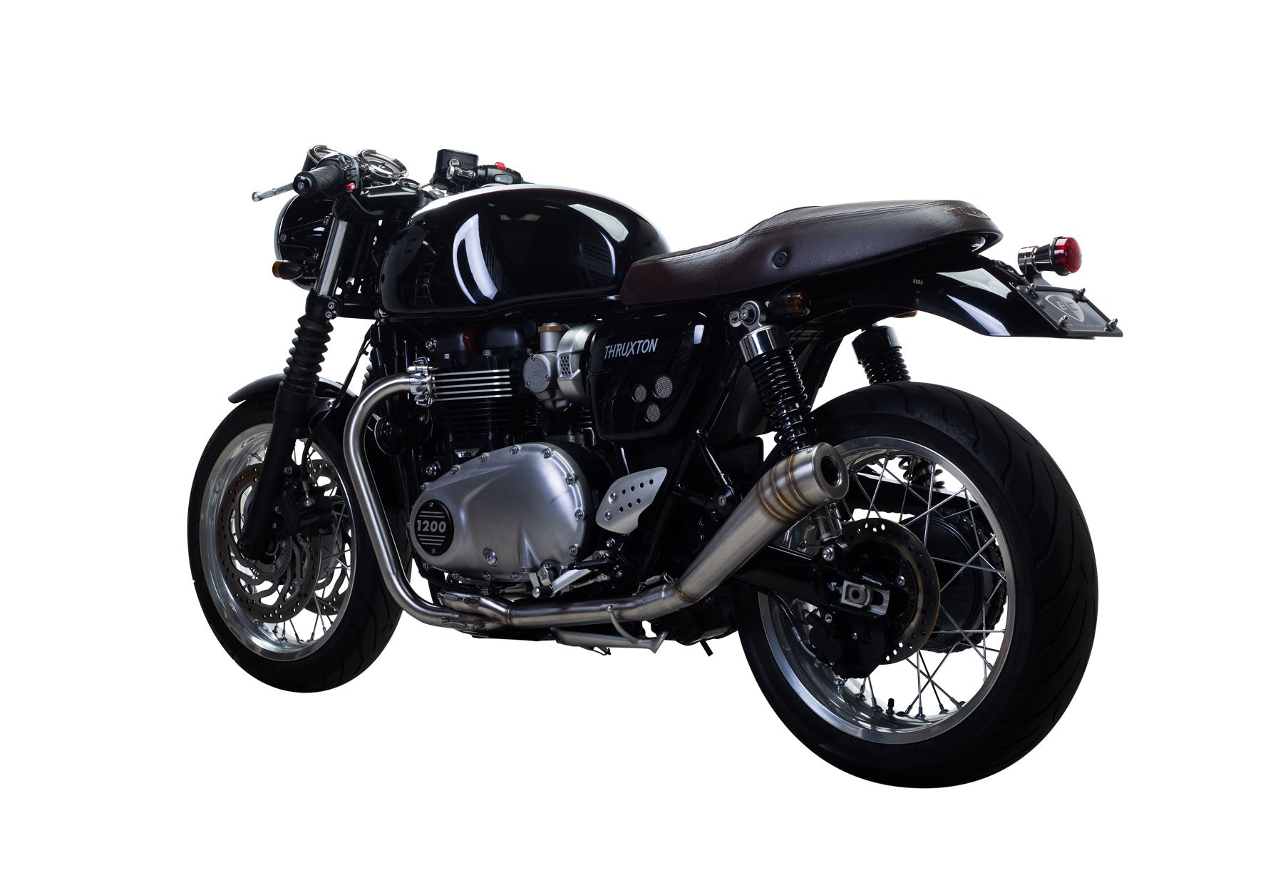 British Customs Triumph Thruxton 1200 Best Sounding Exhaust