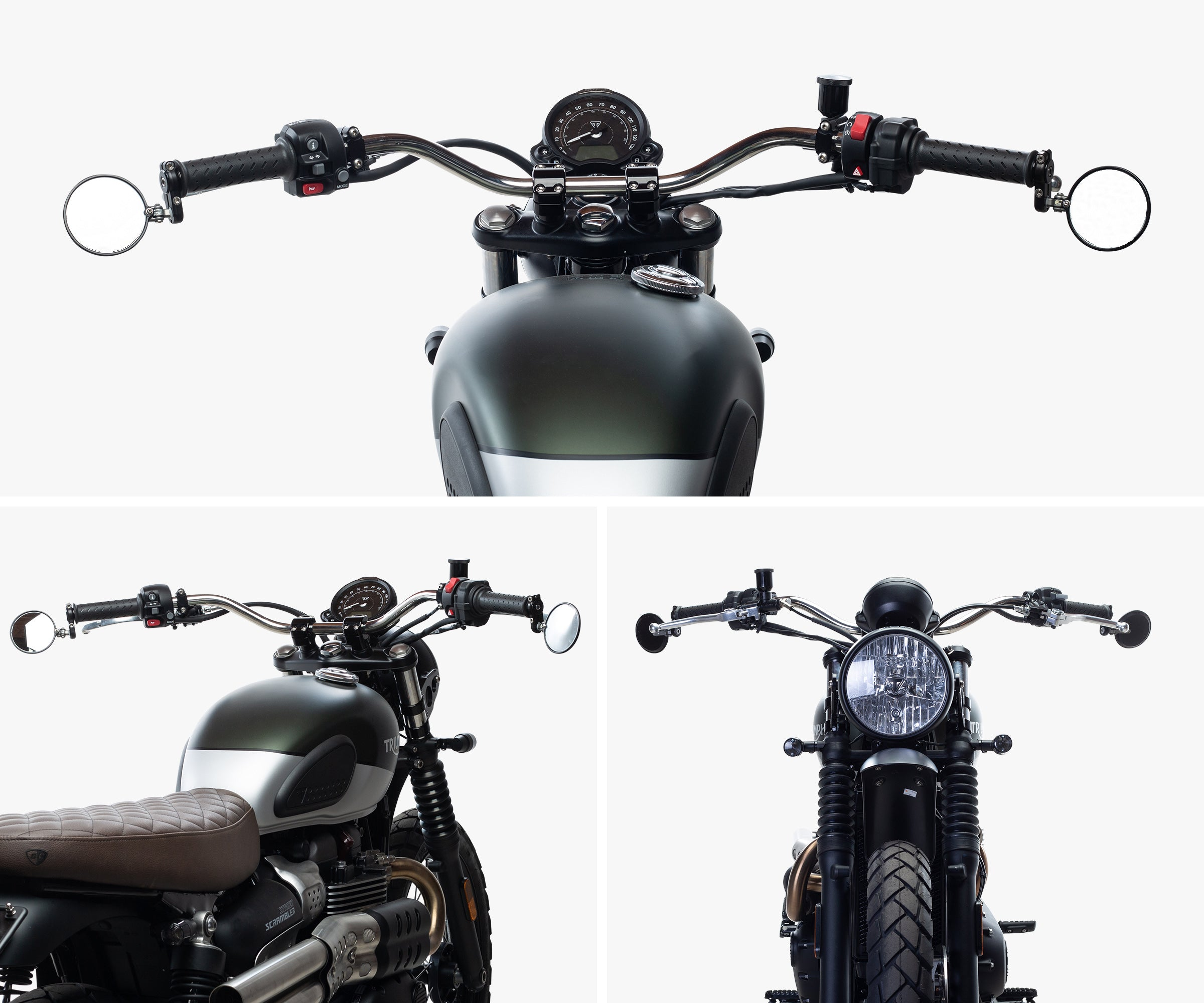 British Customs Triumph Street Scrambler Tracker Handlebar Kit