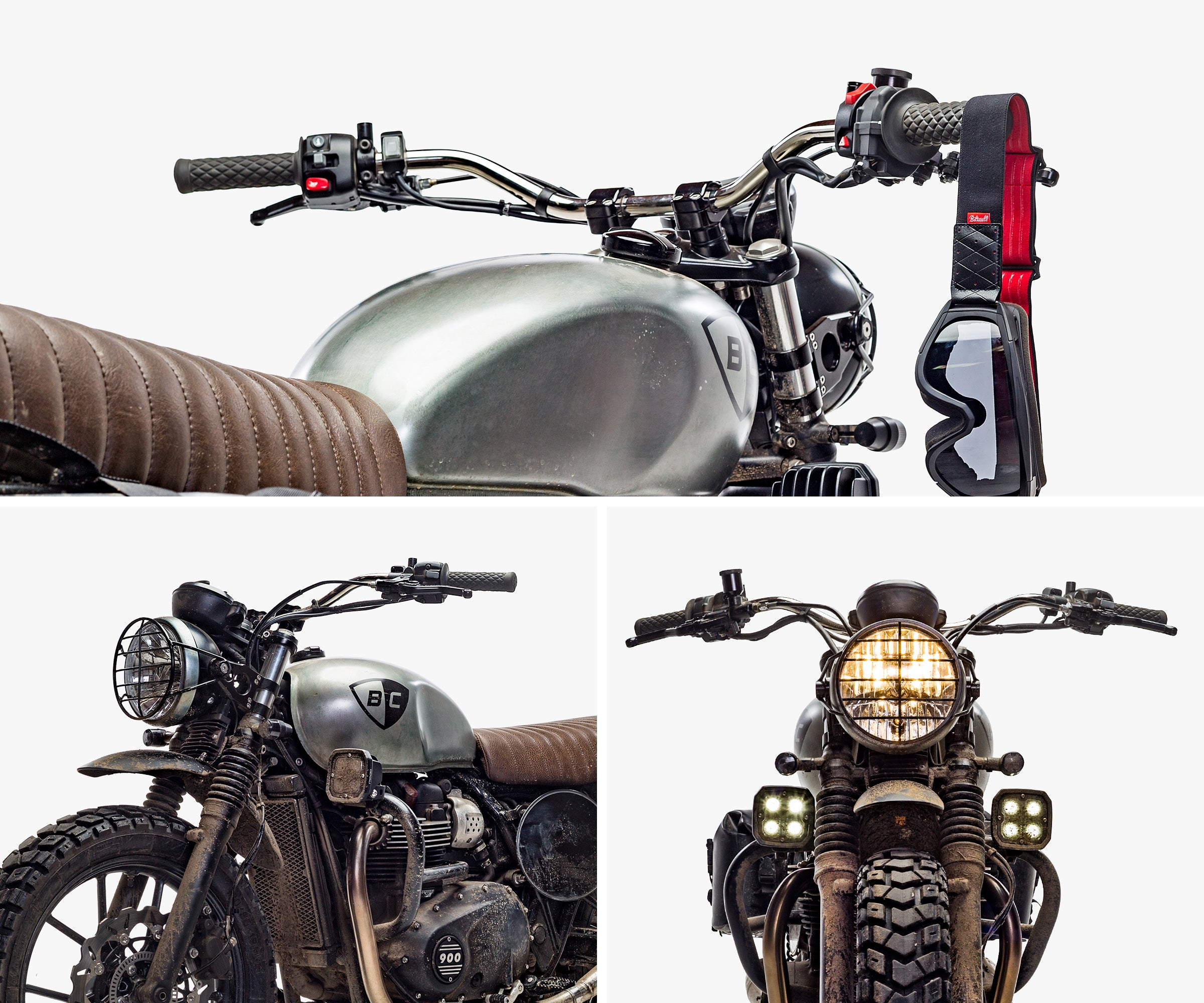 British Customs Triumph Street Twin Tracker Handlebar Kit