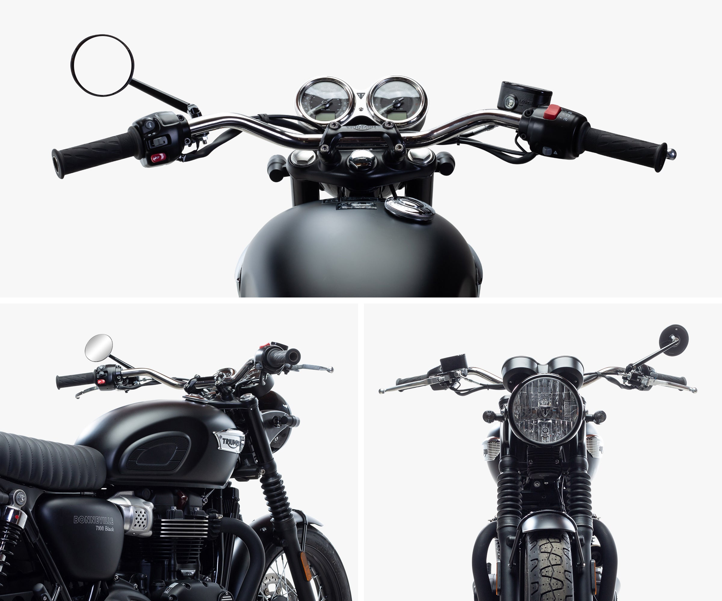 British Customs Triumph Bonneville T100/T120 Tracker Handlebar Kit