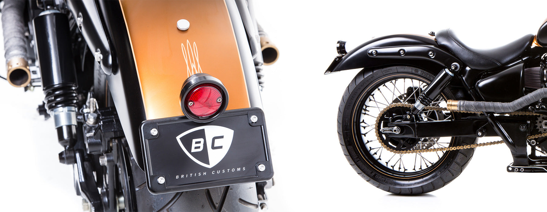 British Customs LED Pan Tail Light for Triumph America and Speedmaster