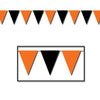 Orange & Black Outdoor Pennant Banner
