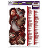 Bloody Rats Toilet Tank Peel 'N Place Clings, party supplies, decorations, The Beistle Company, Halloween, Bulk, Holiday Party Supplies, Halloween Party Supplies, Halloween Party Decorations, Halloween Clings and Magnets