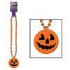 Beads with Printed J-O-L Medallion - Halloween Stuff to Wear