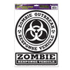 Zombie Outbreak Response Peel 'N Place Clings, party supplies, decorations, The Beistle Company, Halloween, Bulk, Holiday Party Supplies, Halloween Party Supplies, Halloween Party Decorations, Halloween Clings and Magnets