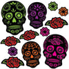 Day Of The Dead Sugar Skull Cutouts, party supplies, decorations, The Beistle Company, Day of the Dead, Bulk, Holiday Party Supplies, Day of the Dead Decorations