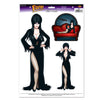 Beistle Elvira Peel 'N Place Clings (12 packs) - Halloween Clings and Magnets, Halloween Party Decorations