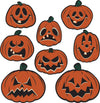 Vintage Halloween Pumpkin Cutouts (Pack of 96)
