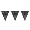 Halloween Party Supplies - Spider Web Pennant Banner
