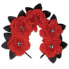 Day of the Dead Red Floral Headband, party supplies, decorations, The Beistle Company, Day of the Dead, Bulk, Holiday Party Supplies, Day of the Dead Decorations