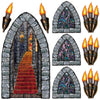Halloween Party Supplies - Stairway, Window & Torch Props