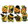 Halloween Party Cutout Decorations 9.5 Inch (Case of 96)