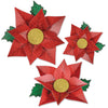 Poinsettia Paper Flowers (Pack of 36)