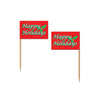 Christmas Holiday Flag Picks