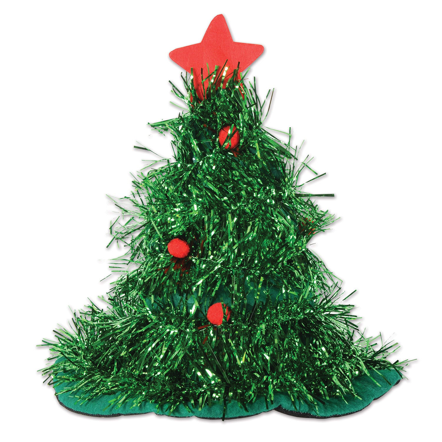 Tinsel Christmas Tree.Tinsel Christmas Tree Hat Case Of 12