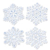 Glittered Snowflake Cutout Decoration