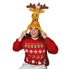 Plush Christmas Moose Hat