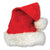 Christmas Velvet Santa Hat with Plush Trim (12ct)