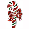 Christmas Prismatic Candy Cane Cutout Decoration