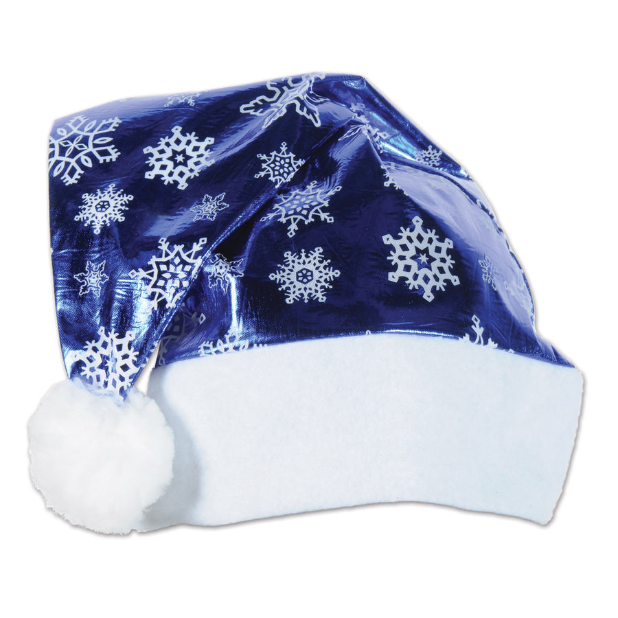 Metallic Blue Santa Hat Party Supplies Decorations The Beistle Company Winter