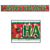 Metallic Happy Holidays Fringe Banner Decoration