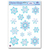Christmas Crystal Snowflake Clings