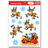 Christmas Santa & Sleigh Clings