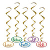 Christmas Word Whirls - Christmas Party Danglers