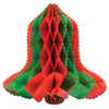 Christmas Tissue Bell - red & green