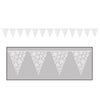 Snowflake Pennant Banner, party supplies, decorations, The Beistle Company, Winter/Christmas, Bulk, Holiday Party Supplies, Christmas Party Supplies, Christmas Party Decorations, Christmas Signs and Banners