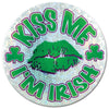 St. Patricks Day Party Supplies - Kiss Me I'm Irish Button