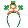 Glittered Shamrock Boppers with Leprechaun