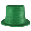 St. Patricks Day Party Supplies - Green Glittered Top Hat