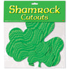 Embossed Foil Shamrock Cutouts - St. Patricks Day Cutouts