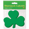 Packaged Printed Shamrock Cutouts
